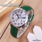 JAEGER-016-15 時尚潮流女士約會系列綠色閃亮銀VK進口石英腕錶