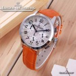 JAEGER-016-11 時尚潮流女士約會系列橙色閃亮銀VK進口石英腕錶