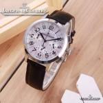 JAEGER-016-13 時尚潮流女士約會系列黑色閃亮銀VK進口石英腕錶