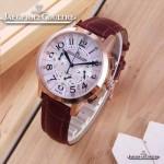 JAEGER-016-20 時尚潮流女士約會系列紫色土豪金VK進口石英腕錶