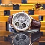 JAEGER-017-3 新款商務精英男士土豪金藍寶石鏡面自動機械腕錶