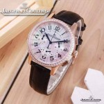 JAEGER-016-3 時尚潮流女士約會系列黑色土豪金鑲鑽VK進口石英腕錶