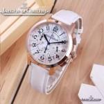 JAEGER-016-23 時尚潮流女士約會系列白色土豪金VK進口石英腕錶