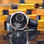 JAEGER-017 新款商務精英男士土豪金藍寶石鏡面自動機械腕錶