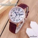 JAEGER-016-9 時尚潮流女士約會系列紫色土豪金鑲鑽VK進口石英腕錶