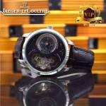 JAEGER-017-4 新款商務精英男士閃亮銀藍寶石鏡面自動機械腕錶