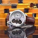 JAEGER-017-7 新款商務精英男士閃亮銀藍寶石鏡面自動機械腕錶