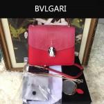 Bvlgari-0014-2 人氣熱銷寶格麗紅色原版魔鬼魚皮系列手提單肩斜背包