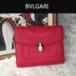 Bvlgari-007-5 歐美百搭新款紅色原版皮單層單肩斜挎包