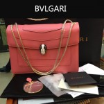 Bvlgari-0010-2 人氣熱銷寶格麗新款雙層原版皮長方形單肩斜背包