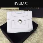 Bvlgari-003-3 人氣熱銷單品女士白色原版小牛皮蛇頭單肩斜挎包