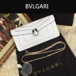 Bvlgari-0012-3 人氣熱銷寶格麗白色原版皮橫款手拿單肩斜背包