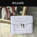 Bvlgari-007-4 歐美百搭新款白色原版皮單層單肩斜挎包