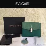 Bvlgari-0013-1 人氣熱銷寶格麗綠色原版魔鬼魚皮正方形單肩斜背包