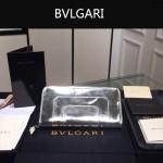 Bvlgari-005-7 潮流時尚新款女士閃亮銀原版皮長款拉鏈錢包