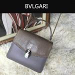 Bvlgari-0014 人氣熱銷寶格麗灰色原版魔鬼魚皮系列手提單肩斜背包