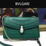 Bvlgari-006-5 名媛必備單品女士綠色原版皮單肩斜挎包