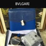 Bvlgari-0014-1 人氣熱銷寶格麗藍色原版魔鬼魚皮系列手提單肩斜背包