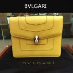 Bvlgari-007-6 歐美百搭新款黃色原版皮單層單肩斜挎包