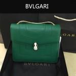 Bvlgari-007-2 歐美百搭新款綠色原版皮單層單肩斜挎包
