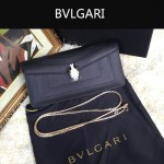 Bvlgari-0012 人氣熱銷寶格麗黑色原版皮橫款手拿單肩斜背包
