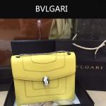 Bvlgari-003 人氣熱銷單品女士黃色原版小牛皮蛇頭單肩斜挎包
