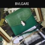 Bvlgari-0014-3 人氣熱銷寶格麗綠色原版魔鬼魚皮系列手提單肩斜背包