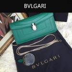 Bvlgari-0012-2 人氣熱銷寶格麗綠色原版皮橫款手拿單肩斜背包