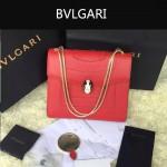 Bvlgari-003-4 人氣熱銷單品女士紅色原版小牛皮蛇頭單肩斜挎包
