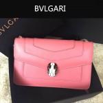 Bvlgari-006-6 名媛必備單品女士粉色原版皮單肩斜挎包