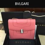 Bvlgari-007 歐美百搭新款粉色原版皮單層單肩斜挎包