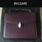 Bvlgari-007-8 歐美百搭新款深紫色原版皮單層單肩斜挎包