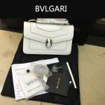 Bvlgari-006-7 名媛必備單品女士白色原版皮單肩斜挎包
