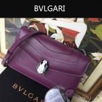 Bvlgari-006 名媛必備單品女士紫色原版皮單肩斜挎包
