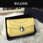 Bvlgari-006-2 名媛必備單品女士黃色原版皮單肩斜挎包