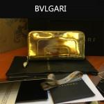 Bvlgari-005-6 潮流時尚新款女士土豪金原版皮長款拉鏈錢包