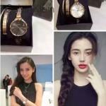 CK-06 明星angelbaby楊穎同款土豪金黑底手鐲款進口石英腕錶