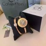 CK-07-2 歐美流行單品土豪金黑底手鐲款進口石英腕錶