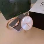 CK-07-5 歐美流行單品玫瑰金白底手鐲款進口石英腕錶