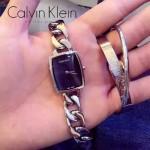 CK-04-4 歐美時尚百搭女士閃亮銀黑底手鏈款石英腕錶