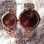 CK-03-10 人氣熱銷單品玫瑰金系列褐色情侶款進口石英腕錶