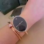 CK-07-6 歐美流行單品玫瑰金黑底手鐲款進口石英腕錶
