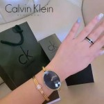 CK-07-8 歐美流行單品土豪金黑底手鐲款進口石英腕錶