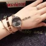CK-06-5 明星angelbaby楊穎同款玫瑰金黑底手鐲款進口石英腕錶