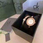 CK-07 歐美流行單品土豪金白底手鐲款進口石英腕錶