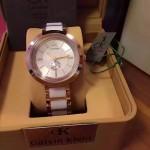 CK-018 卡文克萊經典白色鋼間陶瓷進口石英腕錶