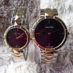 CK-03-12 人氣熱銷單品間金系列黑色情侶款進口石英腕錶