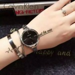 CK-06-4 明星angelbaby楊穎同款閃亮銀黑底手鐲款進口石英腕錶