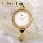 CK-08 頂級新款女士土豪金白底高硬度防刮鏡面進口石英腕錶