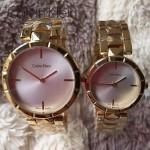 CK-03-11 人氣熱銷單品土豪金系列白色情侶款進口石英腕錶